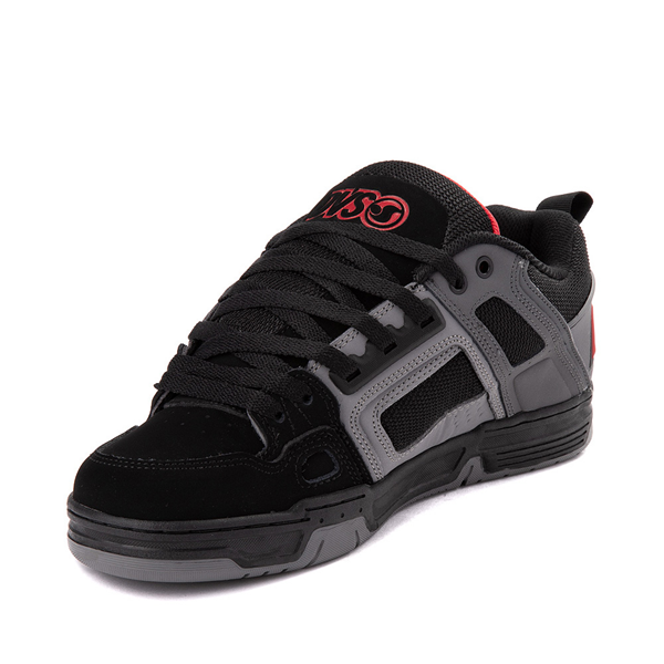 alternate view Mens DVS Comanche Skate Shoe - Black / Gray / RedALT3