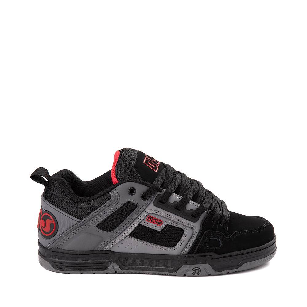 Mens DVS Comanche Skate Shoe - Black / Gray / Red