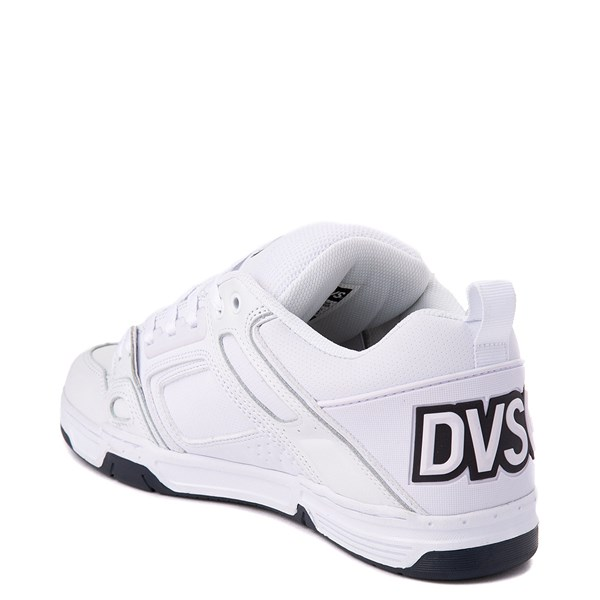 alternate view Mens DVS Comanche Skate Shoe - White / NavyALT2
