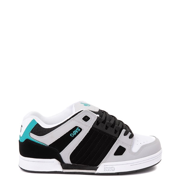 Main view of Mens DVS Celsius Skate Shoe - Black / White / Turquoise