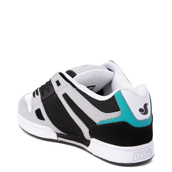 alternate view Mens DVS Celsius Skate Shoe - Black / White / TurquoiseALT1