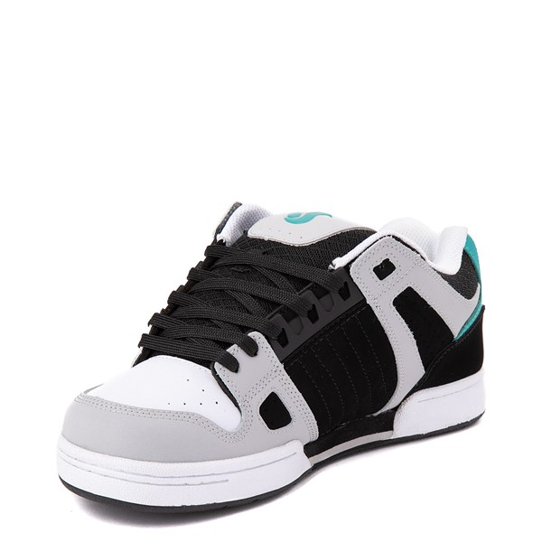 alternate view Mens DVS Celsius Skate Shoe - Black / White / TurquoiseALT2