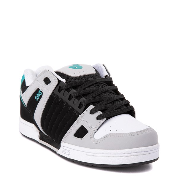 alternate view Mens DVS Celsius Skate Shoe - Black / White / TurquoiseALT5
