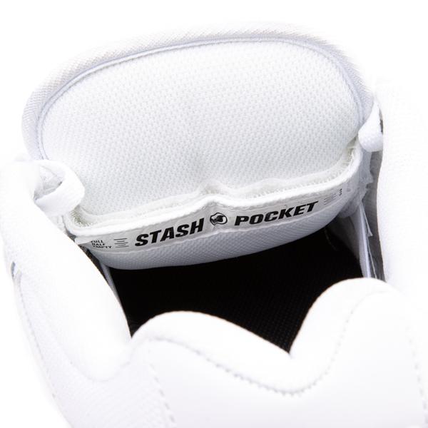 alternate view Mens DVS Enduro Heir Skate Shoe - WhiteALT2C