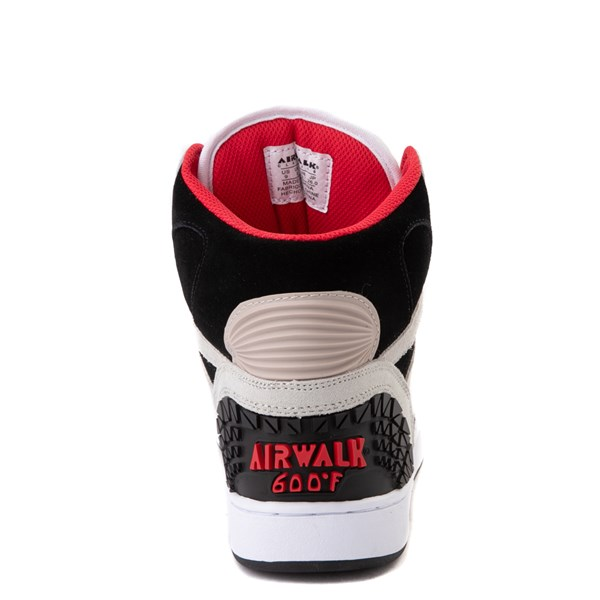 alternate view Mens Airwalk Prototype 600°F Hi Skate Shoe - Black / White / RedALT6