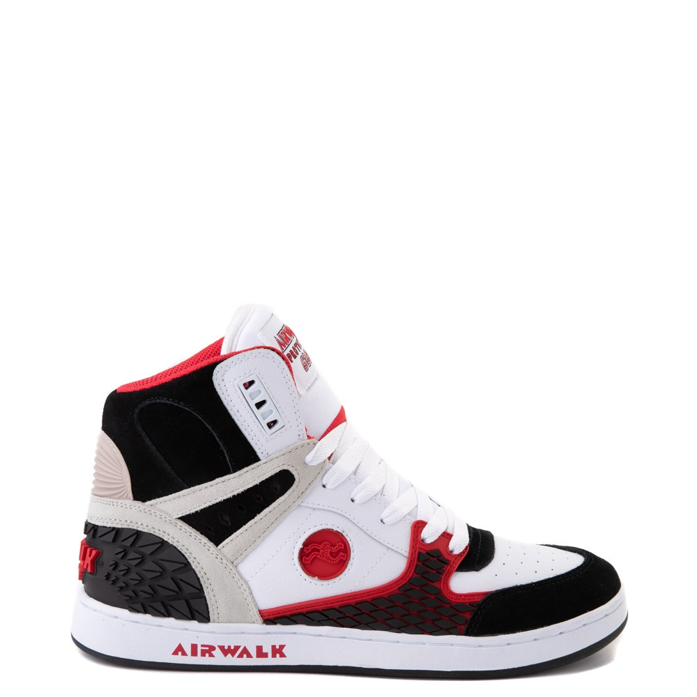 Mens Airwalk Prototype 600°F Hi Skate Shoe - Black / White / Red