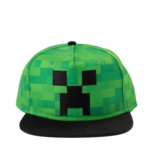 Main view of Minecraft Creeper Snapback Cap - Little Kid - Green / Black