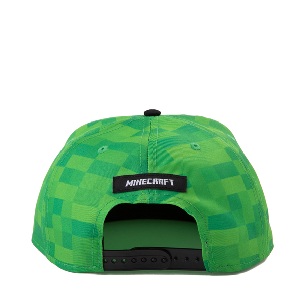 alternate view Minecraft Creeper Snapback Cap - Little Kid - Green / BlackALT1