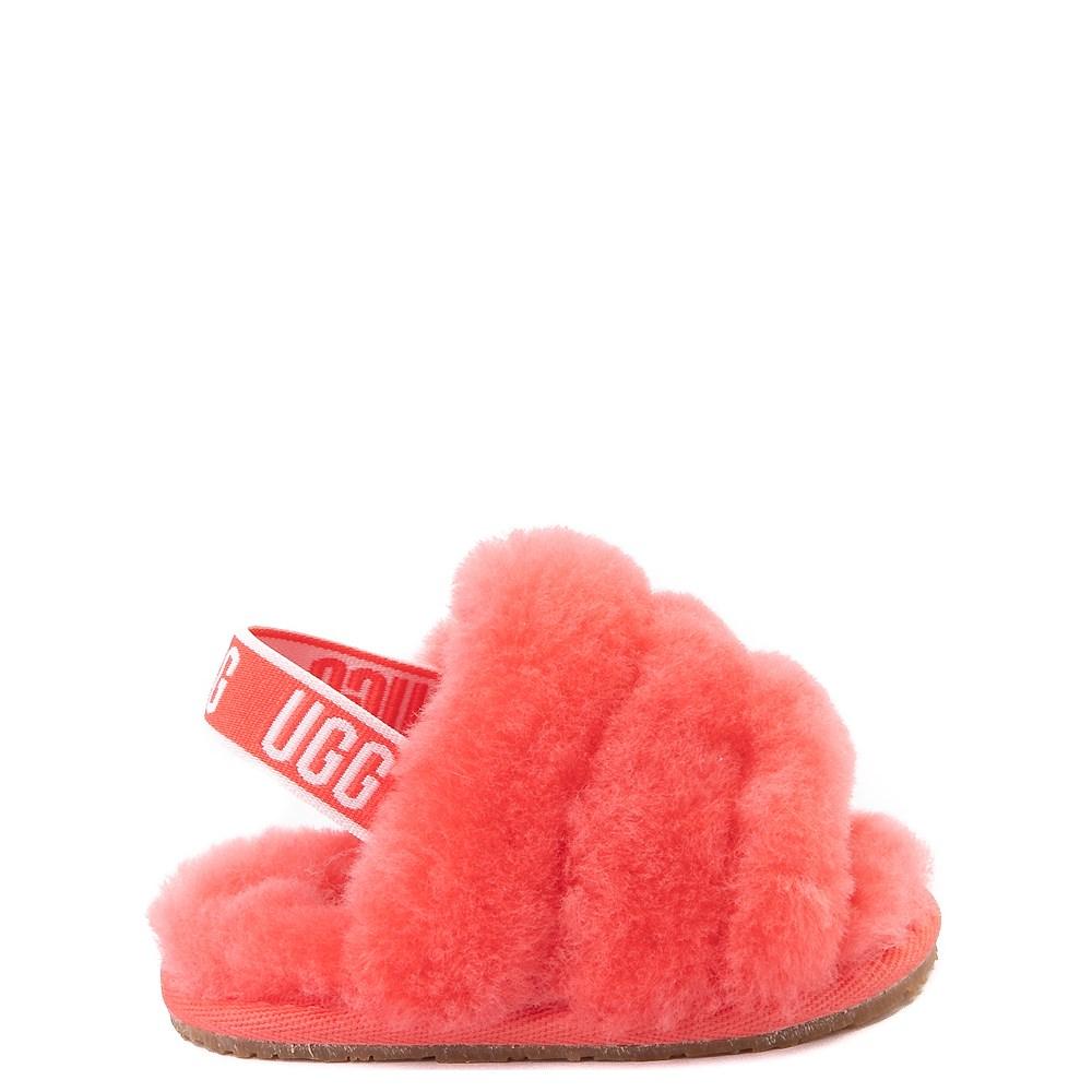 UGG® Fluff Yeah Slide Sandal - Baby / Toddler - Coral