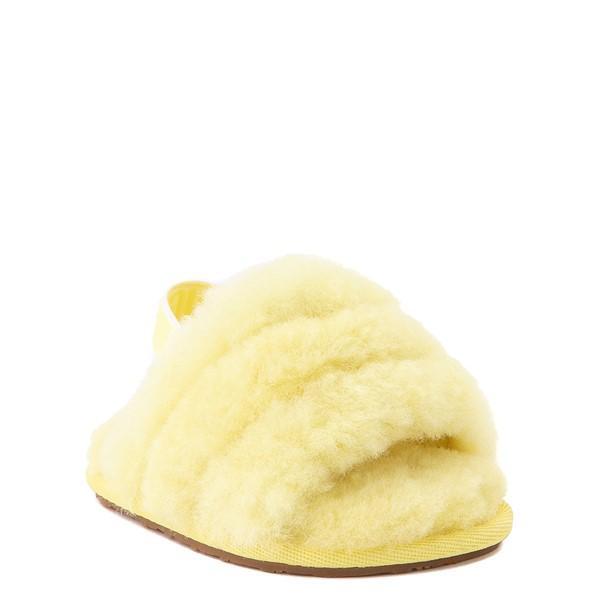alternate view UGG® Fluff Yeah Slide Sandal - Baby / Toddler - LemonadeALT1