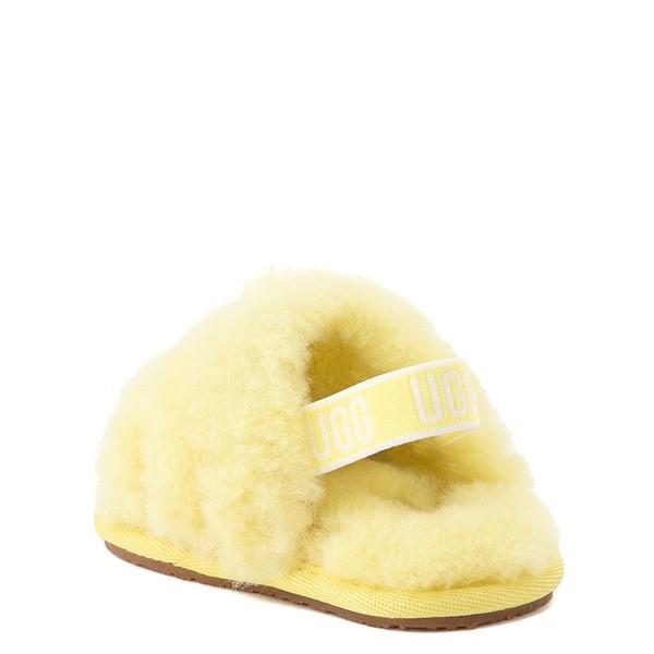 alternate view UGG® Fluff Yeah Slide Sandal - Baby / Toddler - LemonadeALT2