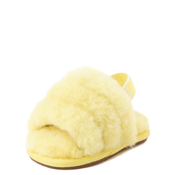 alternate view UGG® Fluff Yeah Slide Sandal - Baby / Toddler - LemonadeALT3