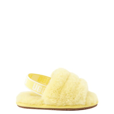 Main view of UGG® Fluff Yeah Slide Sandal - Toddler / Little Kid - Lemonade