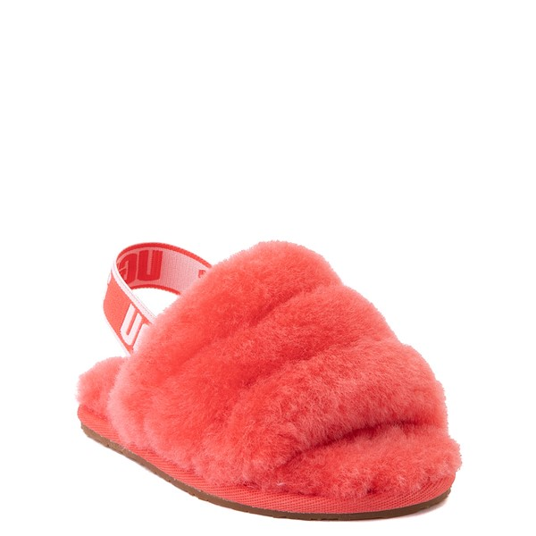 alternate view UGG® Fluff Yeah Slide Sandal - Toddler / Little Kid - CoralALT1