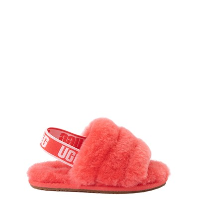 Main view of UGG® Fluff Yeah Slide Sandal - Toddler / Little Kid - Coral