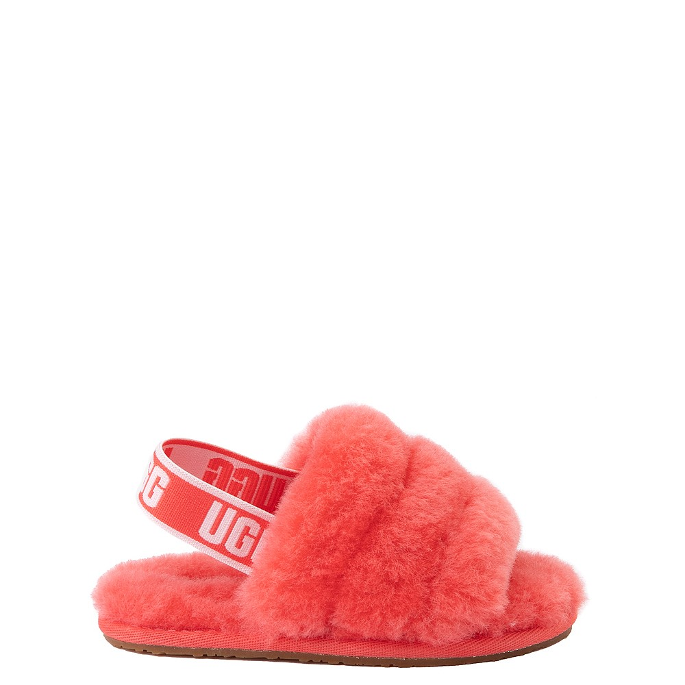 UGG® Fluff Yeah Slide Sandal - Toddler / Little Kid - Coral