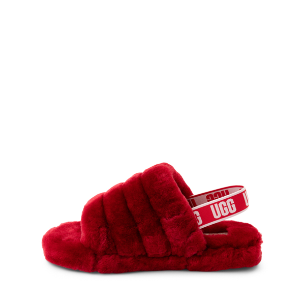 alternate view UGG® Fluff Yeah Slide Sandal - Little Kid / Big Kid - Ribbon RedALT1