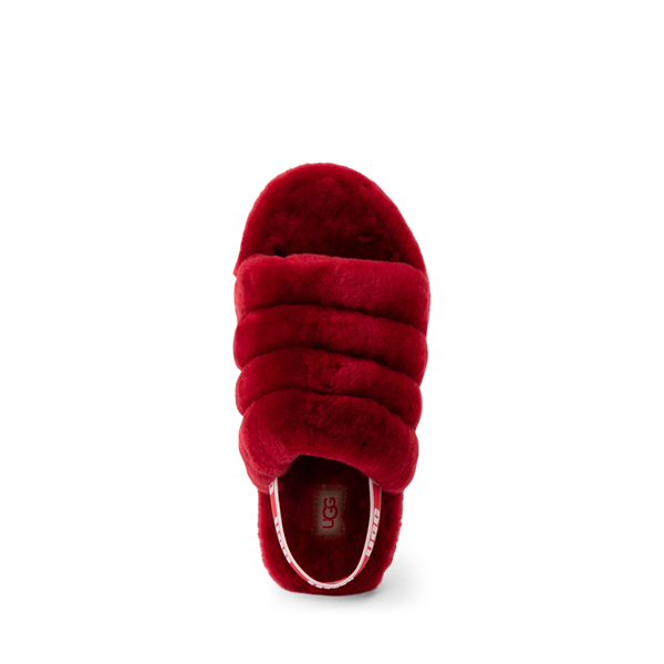 alternate view UGG® Fluff Yeah Slide Sandal - Little Kid / Big Kid - Ribbon RedALT2