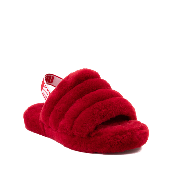 alternate view UGG® Fluff Yeah Slide Sandal - Little Kid / Big Kid - Ribbon RedALT5