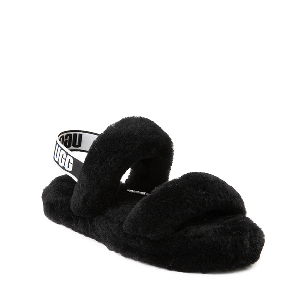alternate view UGG® Oh Yeah Slide Sandal - Little Kid / Big Kid - BlackALT5