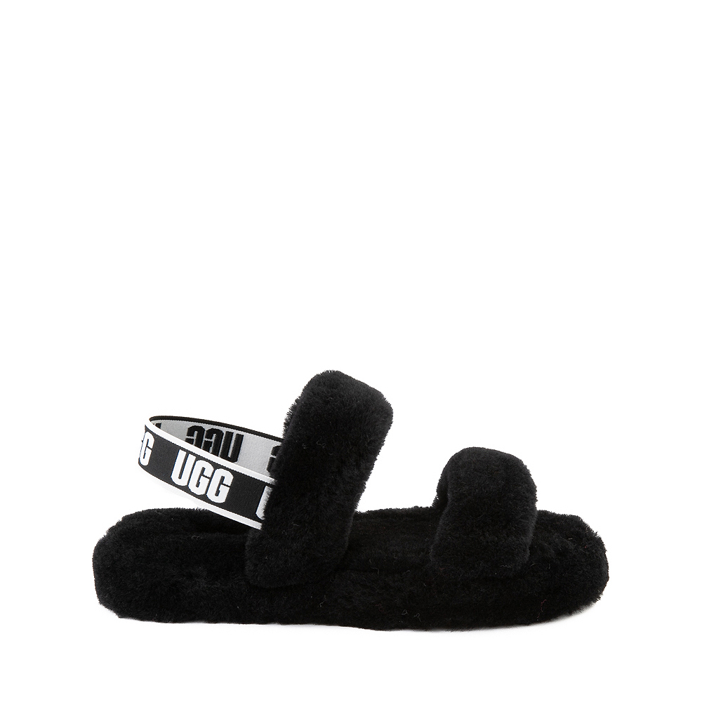 UGG® Oh Yeah Slide Sandal - Little Kid / Big Kid - Black