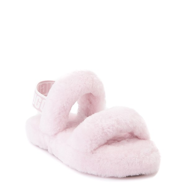 alternate view UGG® Oh Yeah Slide Sandal - Little Kid / Big Kid - Seashell PinkALT1
