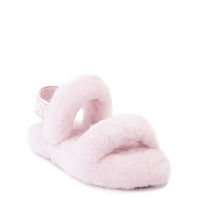 Alternate view of UGG® Oh Yeah Slide Sandal - Little Kid / Big Kid - Seashell Pink