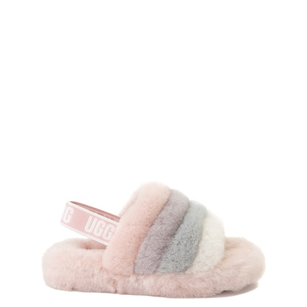Main view of UGG® Fluff Yeah Slide Sandal - Little Kid / Big Kid - Quartz