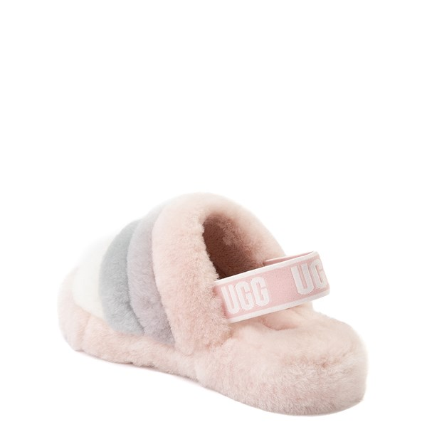alternate view UGG® Fluff Yeah Slide Sandal - Little Kid / Big Kid - QuartzALT2