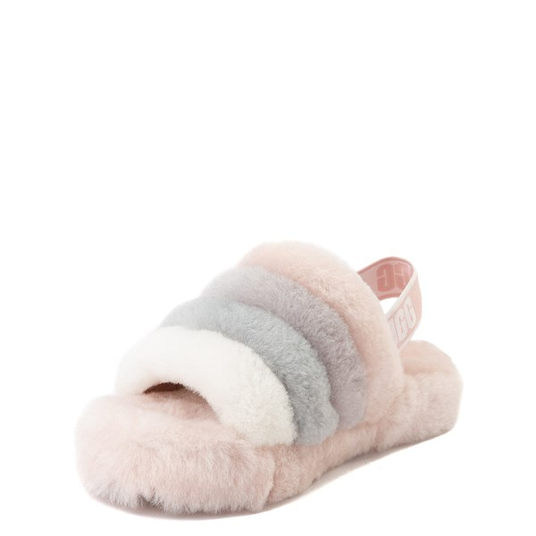 alternate view UGG® Fluff Yeah Slide Sandal - Little Kid / Big Kid - QuartzALT3