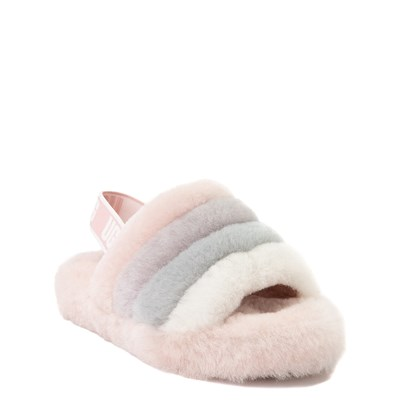 Alternate view of UGG® Fluff Yeah Slide Sandal - Little Kid / Big Kid - Quartz