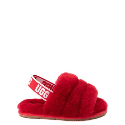 Main view of UGG® Fluff Yeah Slide Sandal - Baby / Toddler - Ribbon Red
