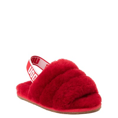 Alternate view of UGG® Fluff Yeah Slide Sandal - Baby / Toddler - Ribbon Red