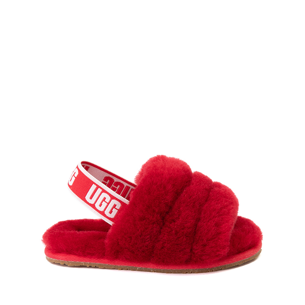 Main view of UGG® Fluff Yeah Slide Sandal - Toddler / Little Kid - Ribbon Red