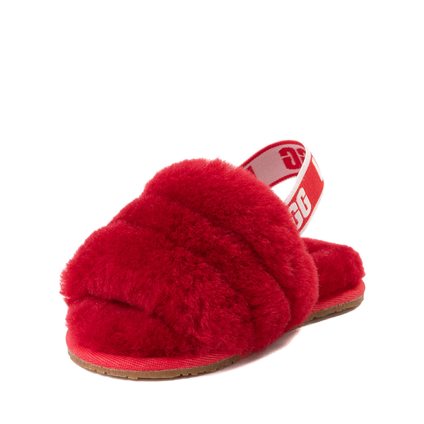 alternate view UGG® Fluff Yeah Slide Sandal - Toddler / Little Kid - Ribbon RedALT2