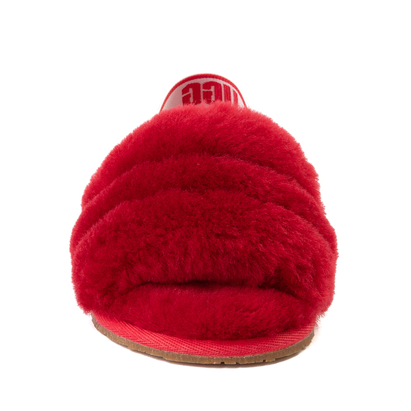 alternate view UGG® Fluff Yeah Slide Sandal - Toddler / Little Kid - Ribbon RedALT4