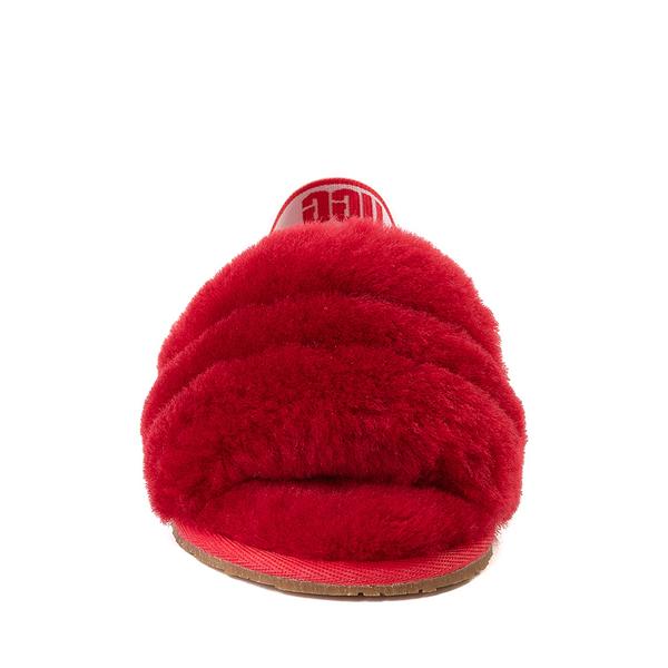alternate view UGG® Fluff Yeah Slide Sandal - Toddler / Little Kid - Ribbon RedALT4