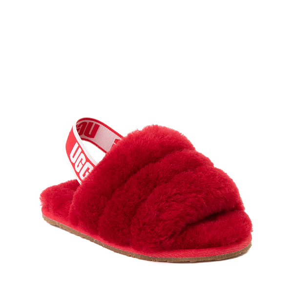 alternate view UGG® Fluff Yeah Slide Sandal - Toddler / Little Kid - Ribbon RedALT5
