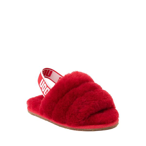 alternate view UGG® Fluff Yeah Slide Sandal - Toddler / Little Kid - Ribbon RedALT5