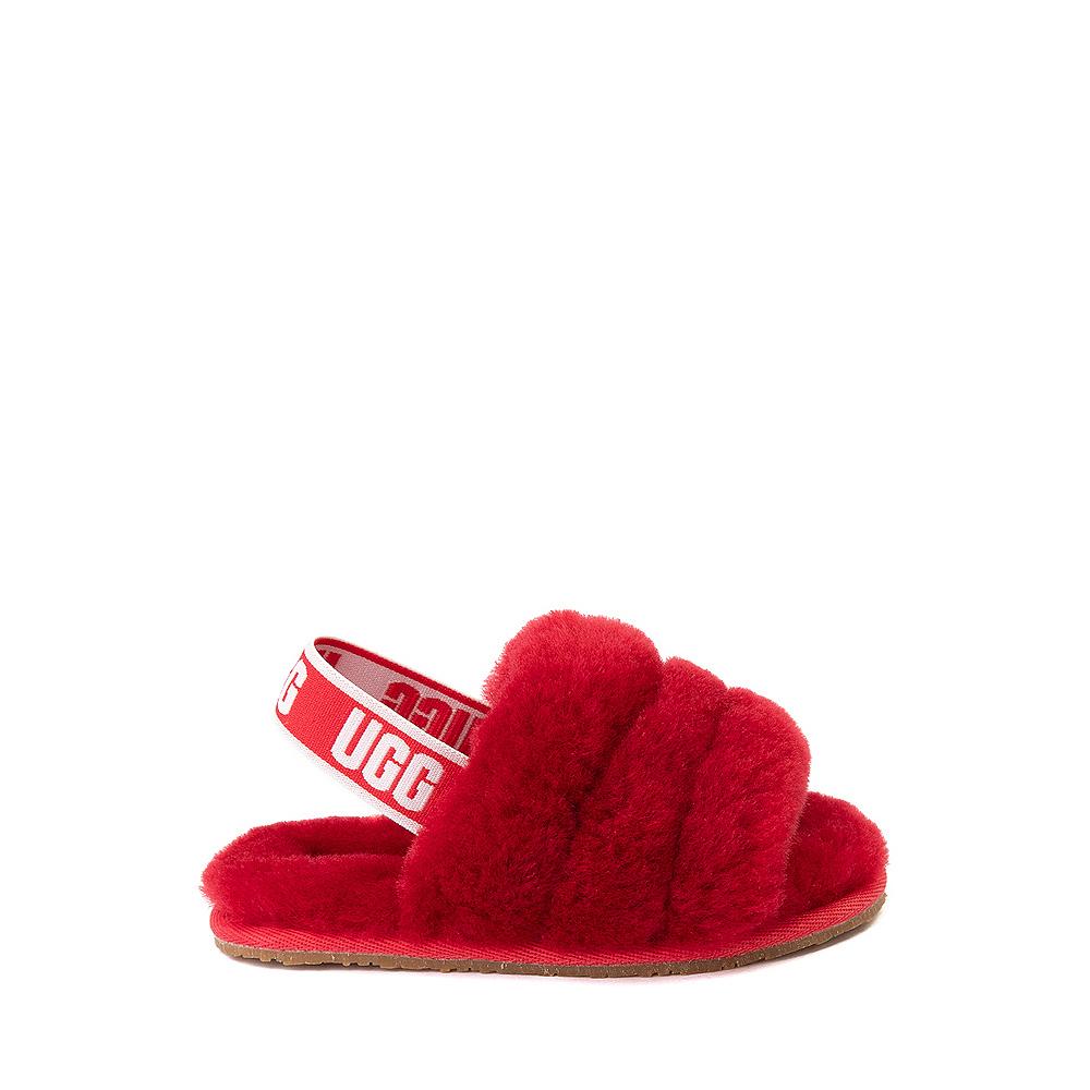 UGG® Fluff Yeah Slide Sandal - Toddler / Little Kid - Ribbon Red