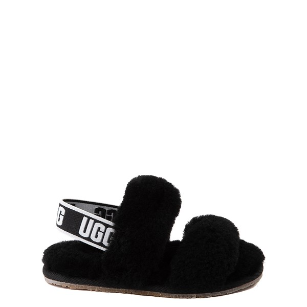 Main view of UGG® Oh Yeah Slide Sandal - Toddler / Little Kid - Black