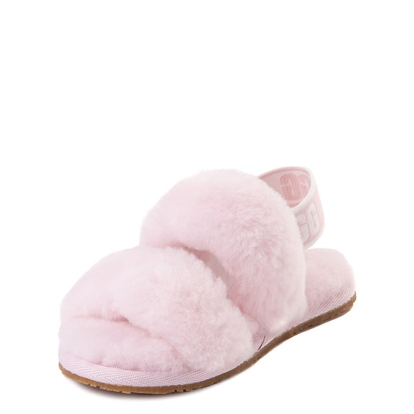 alternate view UGG® Oh Yeah Slide Sandal - Toddler / Little Kid - Seashell PinkALT3