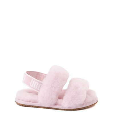 Main view of UGG® Oh Yeah Slide Sandal - Toddler / Little Kid - Seashell Pink