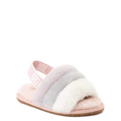 Alternate view of UGG® Fluff Yeah Slide Sandal - Toddler / Little Kid - Quartz