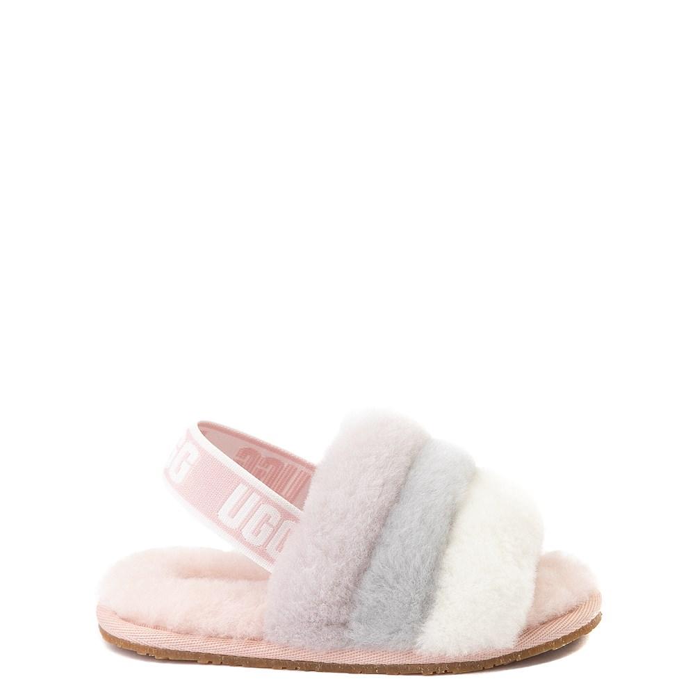UGG® Fluff Yeah Slide Sandal - Toddler / Little Kid - Quartz