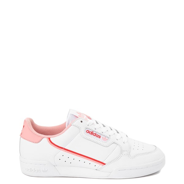 Main view of Womens adidas Continental 80 Athletic Shoe - White / Pink / Red