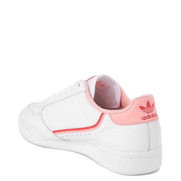 alternate view Womens adidas Continental 80 Athletic Shoe - White / Pink / RedALT1