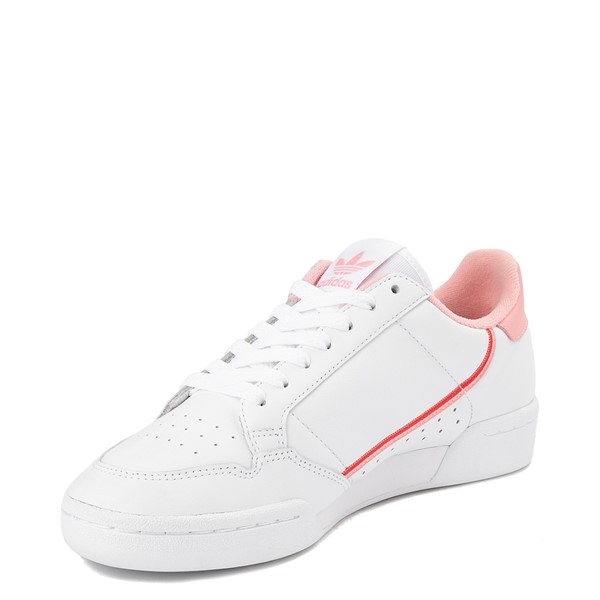 alternate view Womens adidas Continental 80 Athletic Shoe - White / Pink / RedALT2