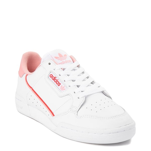 alternate view Womens adidas Continental 80 Athletic Shoe - White / Pink / RedALT5