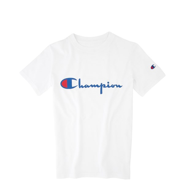 Champion Script Logo Tee - Little Kid / Big Kid - White
